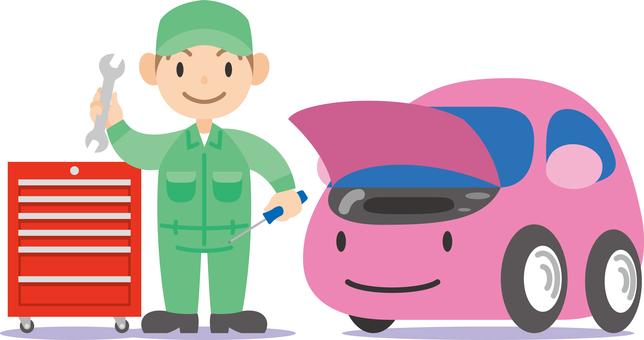 Car Character Maintenance Car inspection Inspection