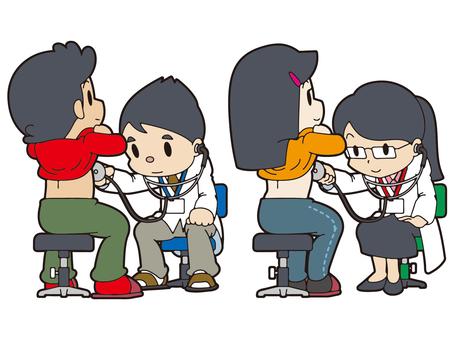 聴診器で診察