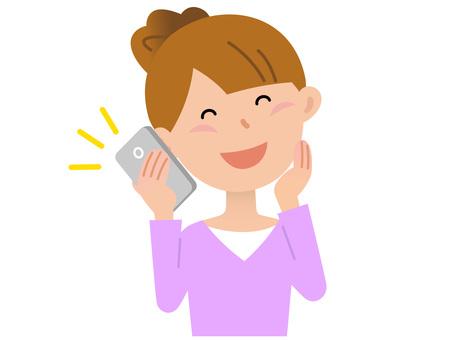 70107. Woman, smartphone 2