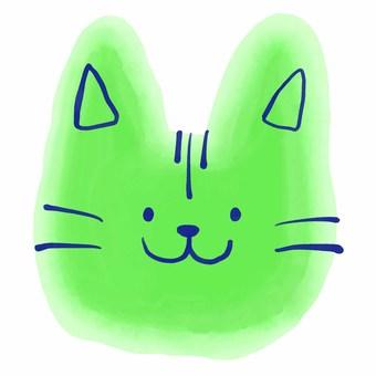 猫アイコン水彩