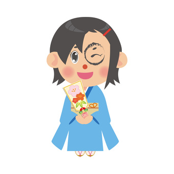 A woman wearing a kimono (battleship shortcut)