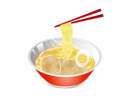 Illustration of ramen (png background transmission)