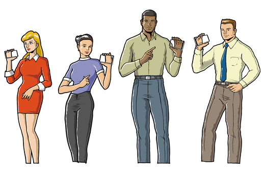 People with a smartphone
