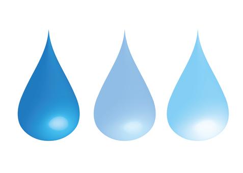 Water drop 3 colors