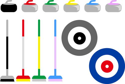 Curling material