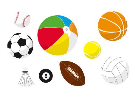 Sports ball white edge