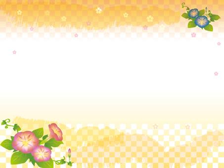 Japanese style Asagao background