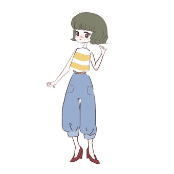 Loose fluffy girl