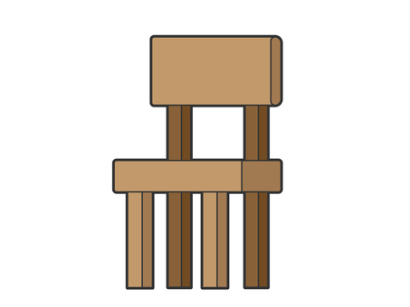 Wood chair brown