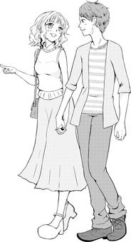 Men & women illustration date