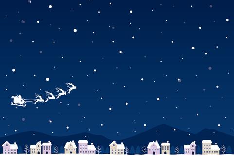 Santa and the snowy city 01