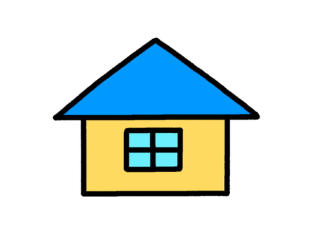Small house blue