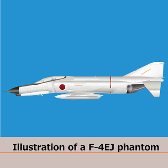 Airplane F4EJ fighter