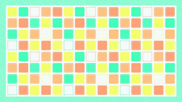四角 パステル カラフル 緑 壁紙 背景