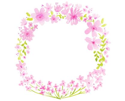 Spring flower frame cherry blossom