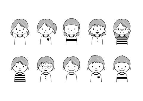 Kids collection (monochrome)
