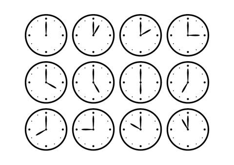 Monochrome clock