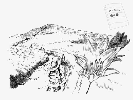霧ヶ峰高原のスケッチ