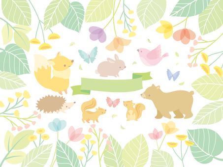 Spring illustration set (8)
