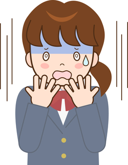Female student A facial pallor