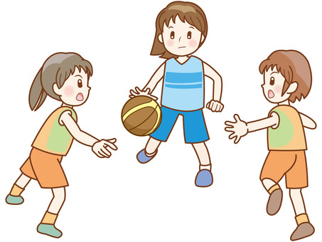 Basketball Girl Line A