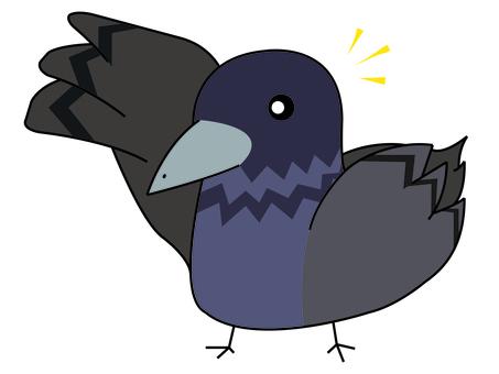 Dove like raising hands