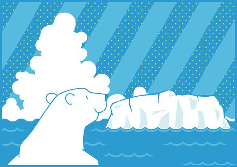 海と氷河とシロクマ1