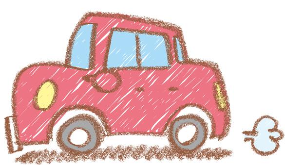 Crayon style car
