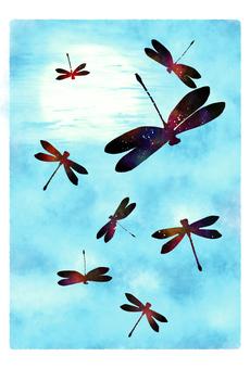 秋天天空和Tonbo賀卡