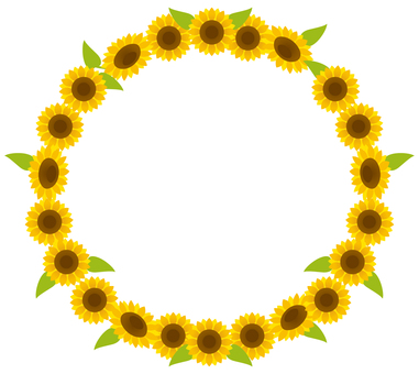 Sunflower frame (background, no letters)