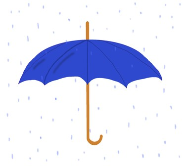 Umbrella (blue), rain