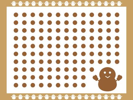 Snowman pattern 4