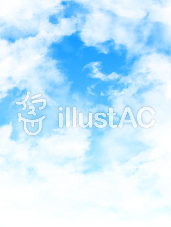 【フリーイラスト素材】雲と大空・2