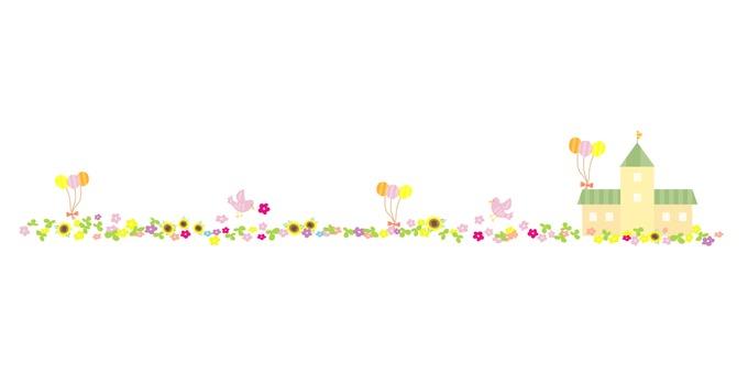 Festive flower line