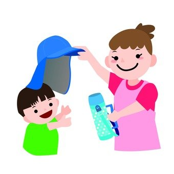Parent and child 2 to take measures against heat stroke 2