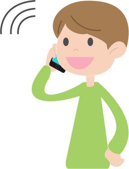 전화를하는