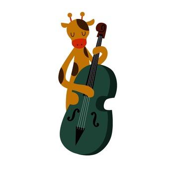 Giraffe playing the guitar