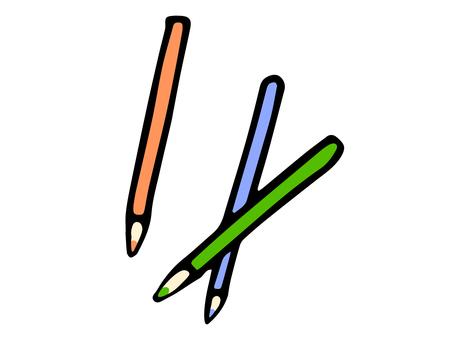 색연필 3 개 세트