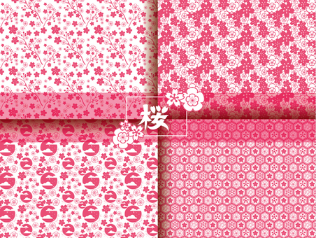 Japanese Pattern Sakura Pattern Collection Summary