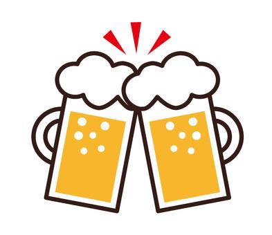 與啤酒敬酒