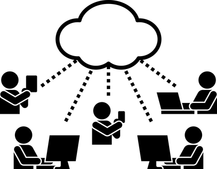 Cloud illustration pictogram