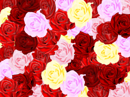 Various roses fill up all over