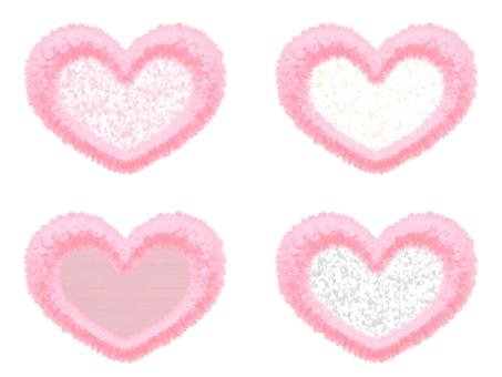 Fluffy Mokomoko Material Heart 5