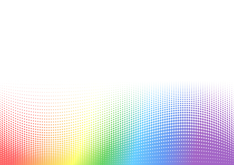 Rainbow-colored background dot