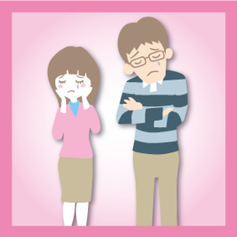 Sorrowful two people