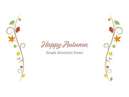 秋の紅葉や花かわいい装飾イラスト素材
