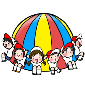Athletics para balloon holding children