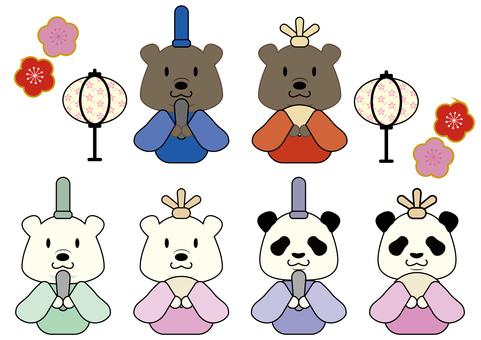 Hinamatsuri Bear Set