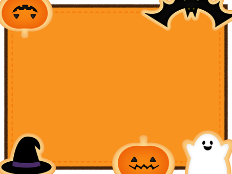 Halloween Cookie Frame _ Orange