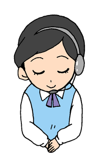 女性オペーレーター(電話応対)